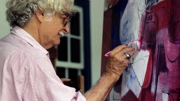 O paisagista também mostrava sua criatividade e paixão por cores nos quadros que pintava.