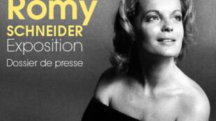 O mito Romy Schneider é retratada em exposição, em Paris.