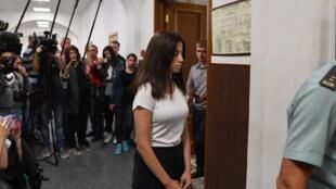 Ангелина Хачатурян в Басманном суде Москвы, 26 июня 2019