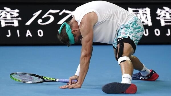 Tennys Sandgren wasted seven opportunities to reach the semi-final at the Australian Open.