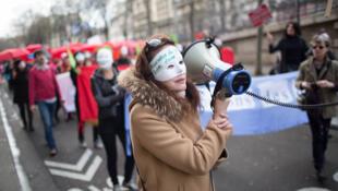 Демонстрация секс-работников во Франции.