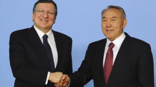 Председатель Еврокомисси Жозе Мануэл Баррозу и президент Казахстана Нурсултан Назарбаев в Астане 03/06/2013
