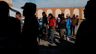 Migrants Centraméricains dans un camp à Tijuana au Mexique, non loin de la frontière avec les Etats-Unis, le 12 décembre 2018.