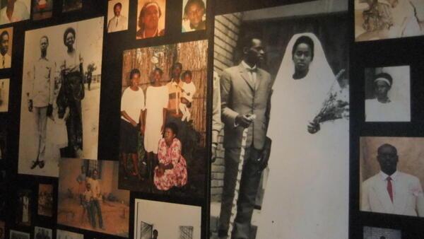 Photos of those killed during the Murambi massacre