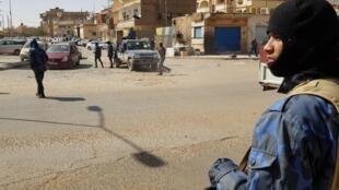 Des forces fidèles au maréchal Haftar, dans la ville de Sebha, située à  660 km au sud de Tripoli, en février 2019. (Photo d'illustration)