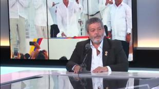 Luis Alberto Albán, también conocido como Marco León Calarcá, fue negociador de los acuerdos de paz en la Habana.