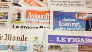 Primeiras páginas dos diários franceses de 6/03/2015