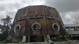 Vue de l'ex- école supérieure du parti (actuelle ENAM) construite à Brazzaville par des architectes soviétiques.