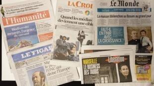 Primeiras páginas dos jornais franceses de 20 de novembro de 2018