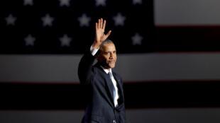 Barack Obama fez seu discurso de adeus em Chicago, na noite de terça-feira, 10 de janeiro de 2017.