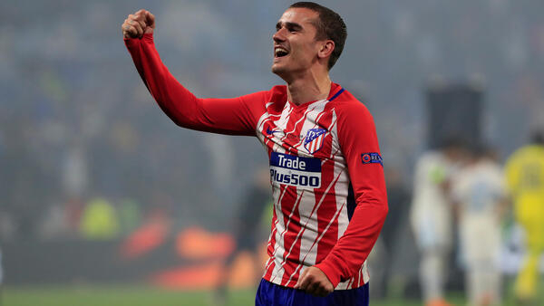 Antoine Griezmann scored twice to help Atletico Madrid win their third Europa League title.