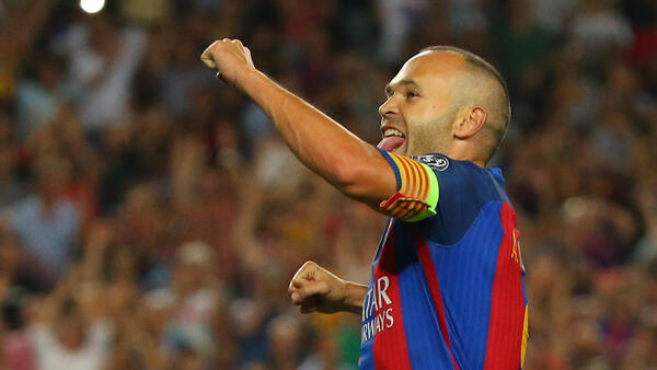 Barcelona skipper Andres Iniesta played nearly 700 games for the first team after graduating from the club's academy.