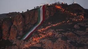 Noruz, o ano novo persa festejado nas montanha do Curdistão no Iraque. Data comemorada também no Afeganistão, Tajiquistão, Uzbequistão, Turcomenistão, e Paquistão.