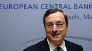 O presidente do BCE, o italiano Mario Draghi.