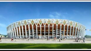 Le futur grand stade d'Abidjan en images de synthèse.
