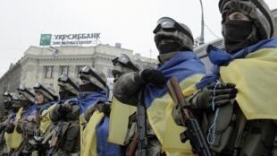 Membros das forças especiais da Ucrânia em 30 de janeiro de 2015.