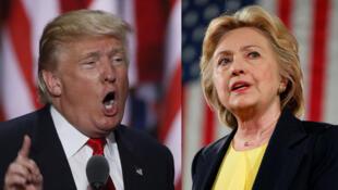 Hai ứng viên tổng thống Hillary Clinton và Donald Trump.