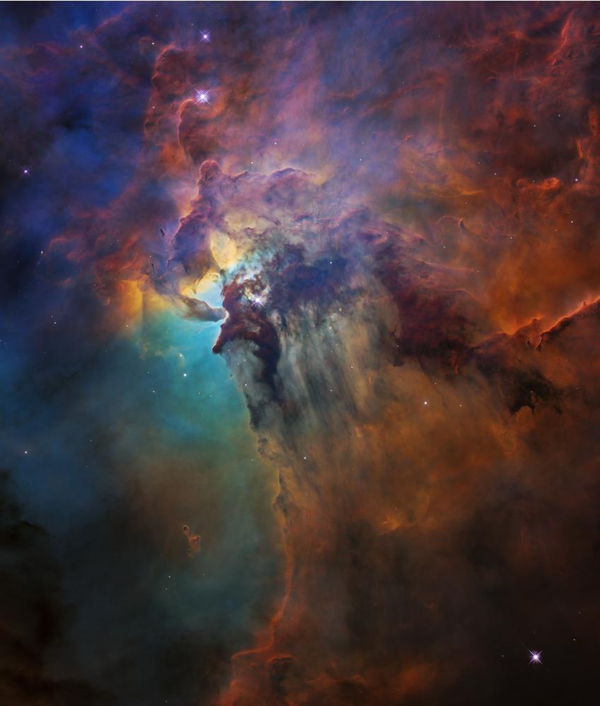 ណេប៊ុយឡាឡាហ្គូន (Lagoon Nebula/Nébuleuse de Lagune) ជារូបភាពដែលណាសាយកមកប្រើ សម្រាប់អបអរខួប ២៨ឆ្នាំ នៃតេឡេស្កុបហឺបល កាលពីឆ្នាំ២០១៨។