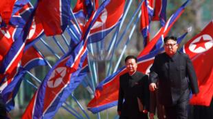 O líder norte-coreano Kim Jong Un supervisiona os preparativos para a comemoração de sábado