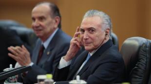 O presidente Michel Temer participou neste sábado (2) de um seminário com empresários brasileiros interessados no Brasil.