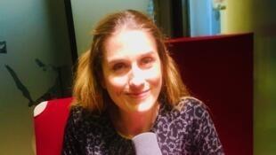 L'écrivaine et éditrice Jessica Nelson en studio à RFI (janvier 2020).