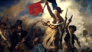 Nữ thần Tự do dẫn đường dân tộc - La Liberté guidant le peuple -  Eugène Delacroix 1830