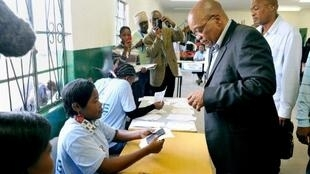 South African President Jacob Zuma in Kwazulu-Natal