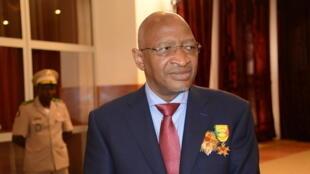 Le Premier ministre malien Soumeylou Boubèye Maïga le 29 décembre 2017 lors d'une cérémonie de décoration à Koulouba.