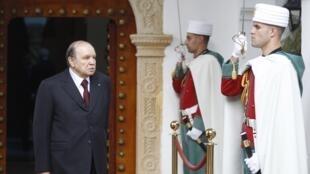 Algerian President Abdelaziz Bouteflika at the Presidential Palace in Algiers, 26 November, 2012