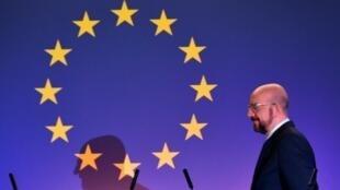 El presidente del Consejo Europeo, Charles Michel, en una rueda de prensa sobre el Brexit el 31 de enero de 2020 en Bruselas