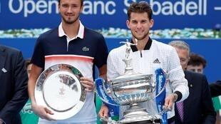 Dominic Thiem (right) became the first Austrian to claim the Barcelona Open since Thomas Muster in 1996.