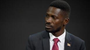 Le chanteur et député d'opposition Bobi Wine le 20 septembre 2017 à New York.