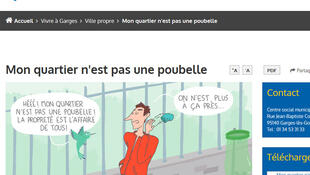 « Mon quartier n'est pas une poubelle » à Garges-lès-Gonesse-(capture d'écran).