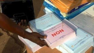Les bulletins du référendum constitutionnel qui se tient ce dimanche 22 mars 2020 en Guinée.