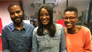 Kevi Donat, guide touristique et organisateur du Paris Noir ;  Diara Ndiaye ; Victoria Ahoueli, présidente et directrice pédagogique de l'association Hidaya.