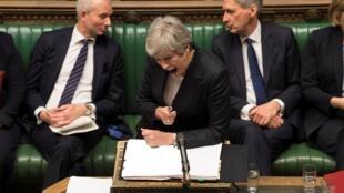 Thủ tướng Anh Theresa May phát biểu tại Nghị Viện Anh, Luân Đôn, ngày 22/05/2019