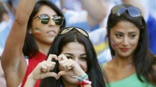Supportrices lors du match de Coupe du monde Iran - Argentine, à Belo Horizonte le 21 juin 2014.