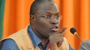 Khalifa Sall, antigo edil de Dakar, actualmente preso, acusado de desvio de fundos públicos.