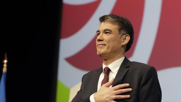 Olivier Faure, novo secretário-geral do Partido Socialista francês.