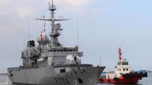 Chiến hạm Pháp Vendemiaire (F734) và tàu hộ tống thăm hữu nghị Philippines ngày 12/03/2018.