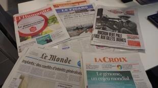 Diarios franceses  27 .11.2018