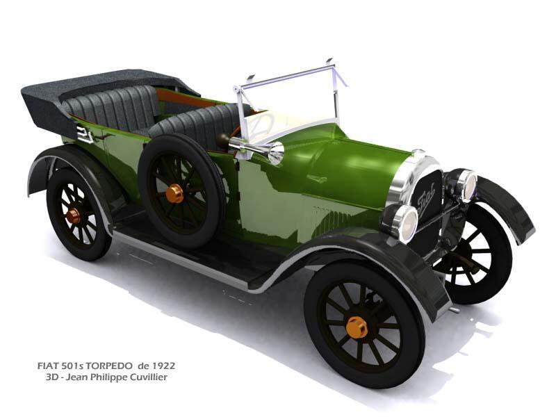 Модель автомобиля Fiat 1922 года для спектакля «Проданная невеста» в Парижской опере.