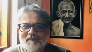 Tushar Gandhi, arrière-petit-fils de Gandhi.