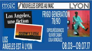 Affiche de l'exposition « Los Angeles une fiction » au Musée d'Arts contemporains de Lyon.
