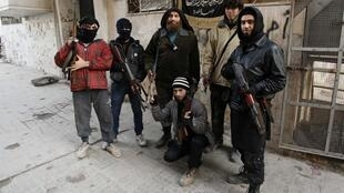 Fighters of the al-Nusra Front in northern Syria last month