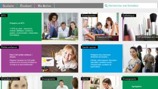 La page d'accueil du CNED, le Centre national d'enseignement à distance.