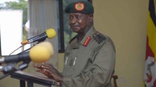 Rais wa Uganda, Yoweri Museveni, akizungumza wakati wa mkutano wa mawaziri na makatibu wakuu wa wizara nchini humo, 31 Julai, 2016