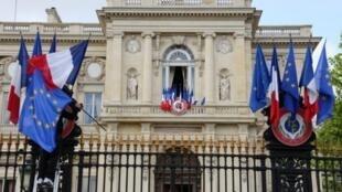 La devanture du ministère des Affaires étrangères français à Paris.
