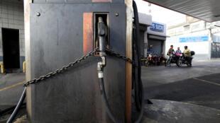 Estación de gasolina cerrada por el apagón, Caracas, 26 de marzo de 2019.