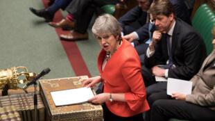 La Première ministre britannique Theresa May, le 12 mars 2019, au Parlement.